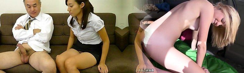 Anna Takizawa in Anna Takizawa is getting to know her elderly playmate from work - AviDolz