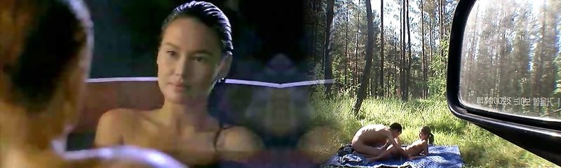Asian Tia Carrere goes for Dolph Lundgrens Big Blond Hard-on