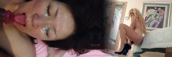 50yr senior japanese mature gets facial