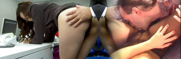 Office honey Ibuki has her hairless pussy teased