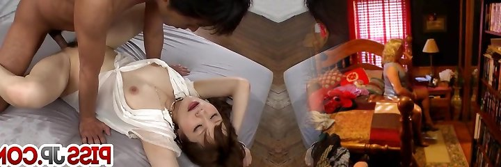 Young Maomi Nagasawa leans for a huge knob