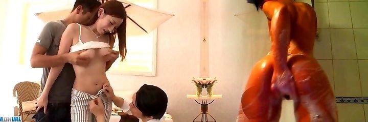 Reon Otowa, Chinese model, suffers hardcore threesome