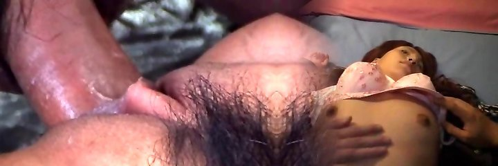 Cute Asian in rosy undergarments takes stiff cock