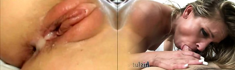 Asian Man Cums In Blondes Pussy