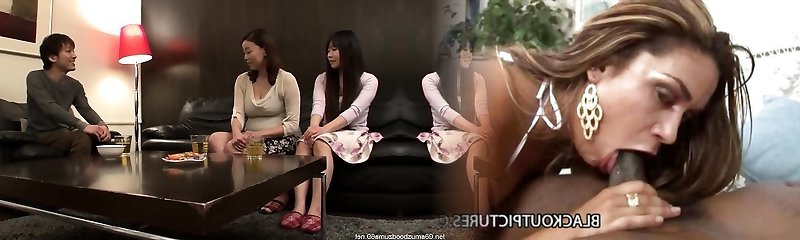 Japanese first-timer Asian big boobs mother
