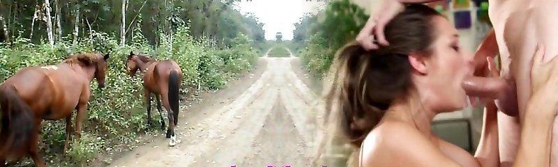 Heather Deep 4 wheeling on scary hasty quad an