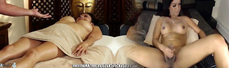 TrickySpa masseuse Cock Massaged by asian Deep Gullet