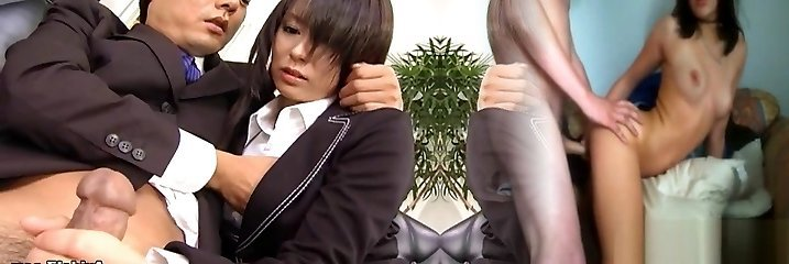 Sexy secretary Satomi Maeno sucks an gross spunk-pump!