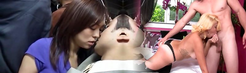 Ultra-kinky Japanese girl Momoka Hayami, Rinka, You Kitajima in Exotic Duo, Public JAV movie