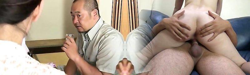 Japanese hairy cunt fingering