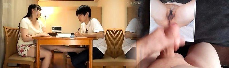 Busty Japanese mammories teasing