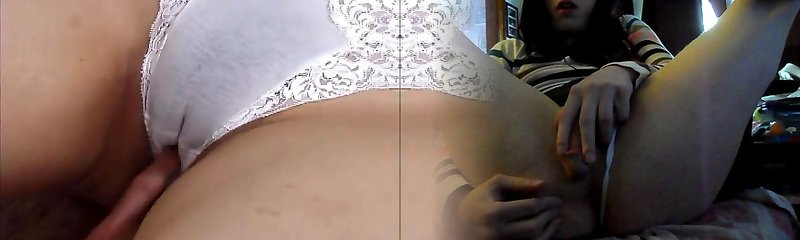 White panties ebony bush