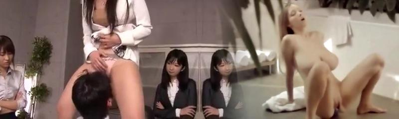 Nippon femdom gang peeing facesitting foodjob office japan