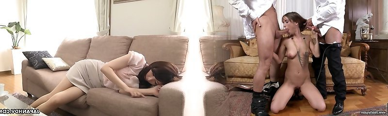 Ultra-cute Japanese cutie Noeru Mitsushima is ready to give a Fellatio during interview