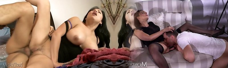 Chinese guy bangs step mothers pussy and facehole