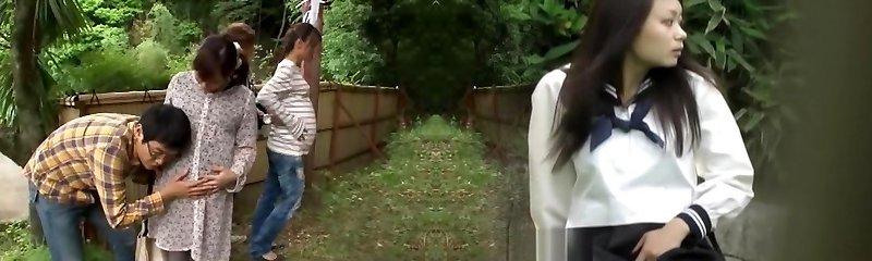 Fabulous Japanese hoe Hinata Komine, Kyouko Maki in Finest Public JAV tweak