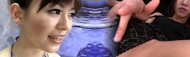 Japanese babe deep-throating 10 dicks uncensored