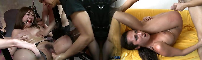 Bound Japanese Lady Used By Multiple Studs