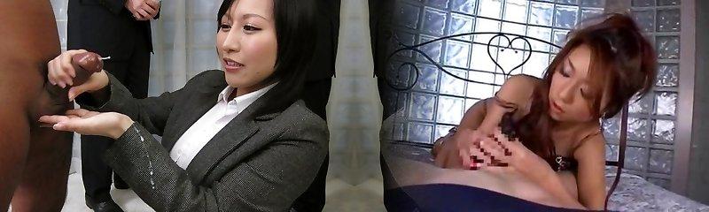 Extraordinaire Japanese fuckslut Yuuna Hoshisaki in Hottest JAV uncensored Handjobs clip
