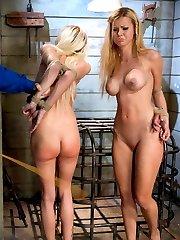 Jessie Rogers and Riley Evans work in an underground drug operation where they try to steal some of the product.  Bad Idea!  Head guard, Chanel Preston, turns them over to the cruel and ruthless crime boss, Mark Davis, who makes them pay through intense sex, punishment and strict bondage!  Two beautiful and busty girl's darkest fantasies come true in this feature update!