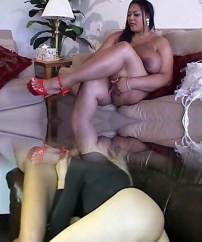 bbw dark-hued woman having sex