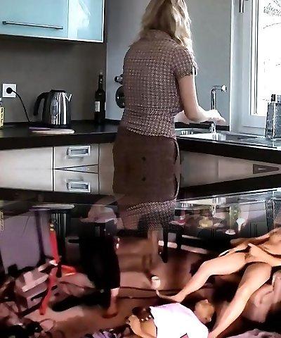 Girl-on-girl Kitchen