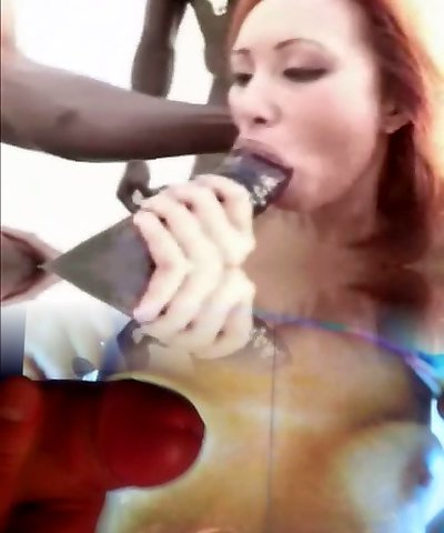 Yam-sized Black Cock, all over a blondie.