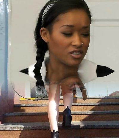 Hot Black schoolgirl banged by schoolteacher