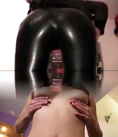 goth girl in black leggings