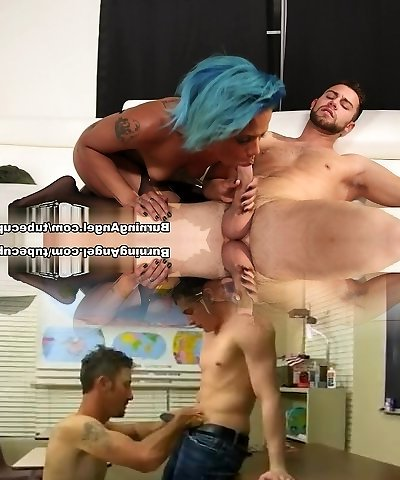 Insane superstars Jessica Creepshow, Seth Gamble, Joanna Angel in Hottest Interracial, Stockings adult video