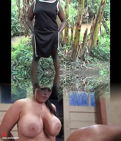 African fat culo and real climax amateur