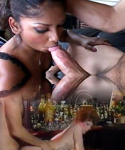 Indian girl sucking white cock