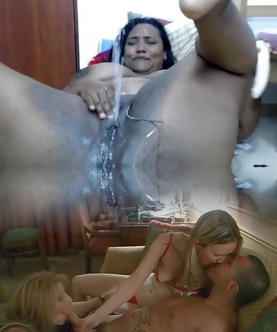 Obese ebony uses dildo on her creamy pussy to squirt