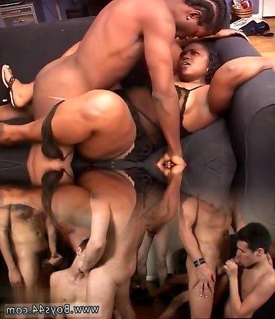 Chubby Dark-hued Mama Makes Man Cum Twice