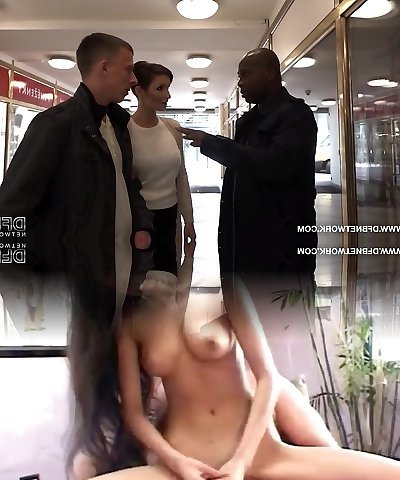 Cum Longing Cuckold watches wifey fucked by a black man rough