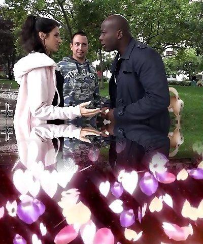 Cuckold Training Wife fucks black man front of husband