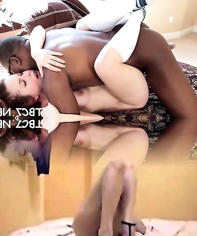 Teen bitch bounces on big black cock yelling with fun