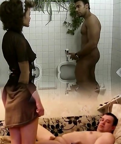 Black maid suck big ebony cock