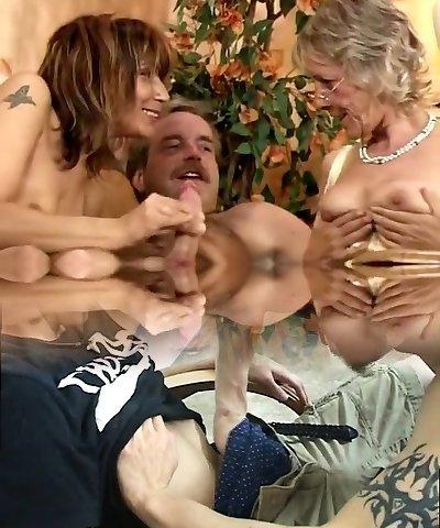 Amazing Black and Black, Group Sex hard-core scene