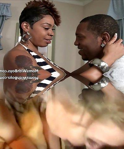 Big Thigh MILF Ebony Couture Juicy Black Pussy Fuck