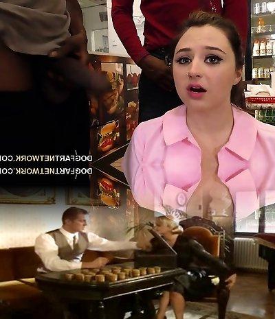 Waitress Elektra Rose Gangbanged By Dark-hued Customers