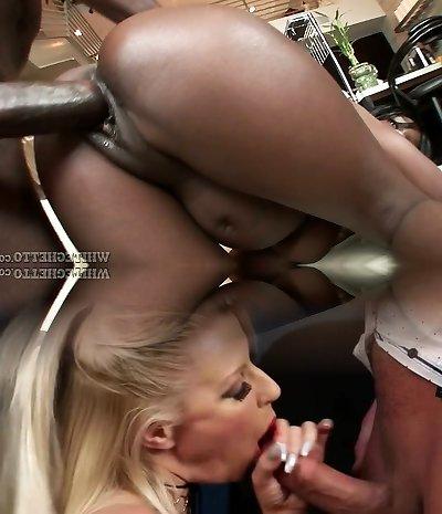 Sexually Aroused black babe Solei Dior fucks horny black guy