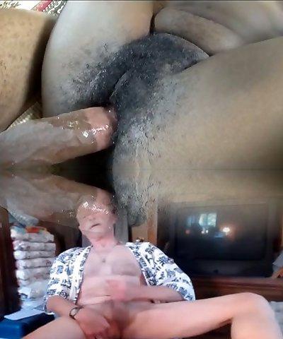 Horn-mad huge breasted ebony nympho Jordan gets her fur covered cunt hammered