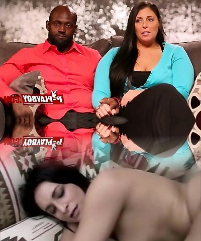Black dude pleasuring busty babe