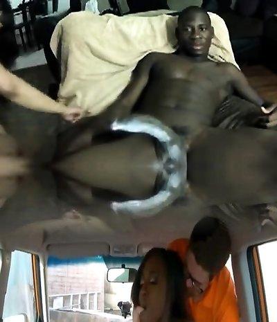 Black Jamaican webcam intercourse couple anal showcase