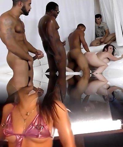 Sara Jay gets ganbanged by ebony folks