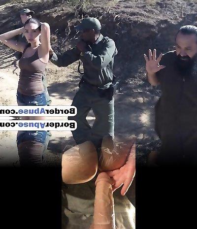 Latina gets pummeled by border guard black stiffy