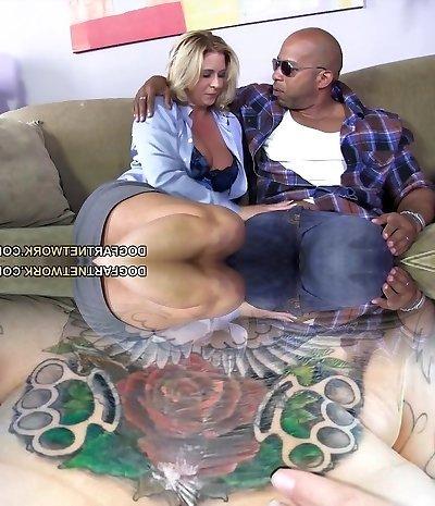 Buxomy Mom Phyllisha Anne shares Black Cock With Haley Jummy