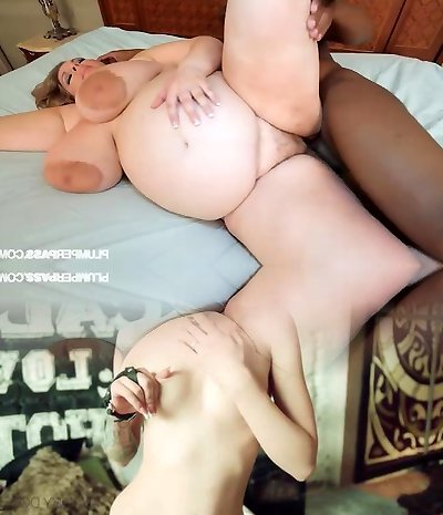 Pregnant Plus-size Gets Fucked By Big Black Man-meat
