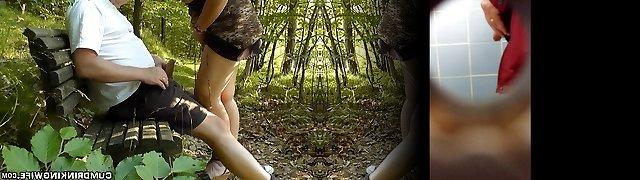 Ebenholz gefickt öffentlichen Park